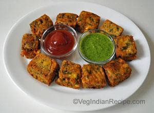 Corn Kothimbir Vadi Recipe