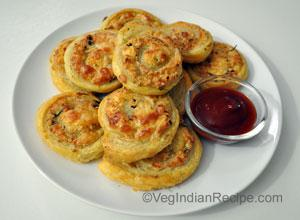 Paneer Swirls Recipe