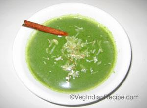 Spinach Almond Soup Recipe