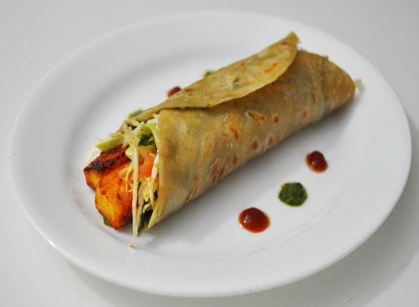 Achari Paneer Kati Roll Recipe | Indian Vegetarian Recipes ...
