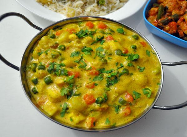 Navratan Korma Recipe | Indian Vegetarian Recipes ...