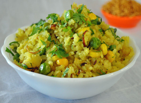 Vegetable Poha Recipe | Indian Vegetarian Recipes | VegIndianRecipe ...