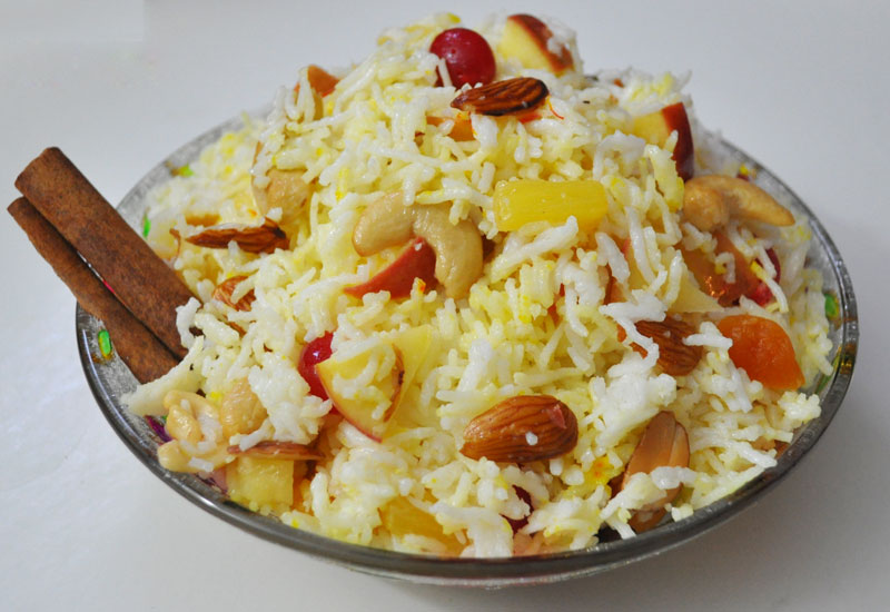 Fruit Pulao Recipe | Indian Vegetarian Recipes | VegIndianRecipe.com