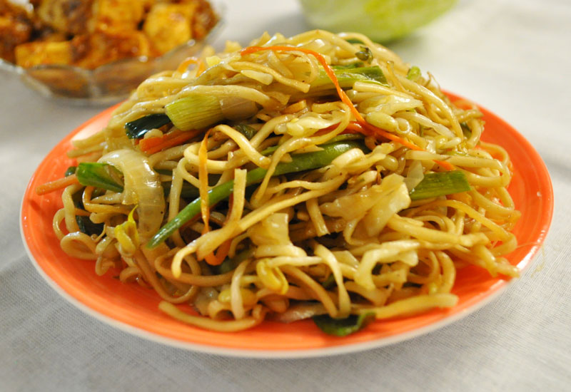 fried noodles stir fried rice noodles with eggs and greens stir fried ...
